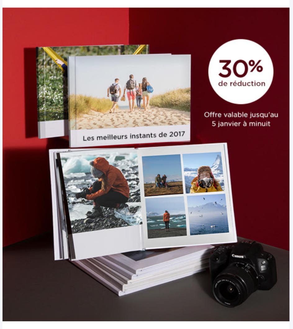 30% de réduction sur les livres photos Canon Irista