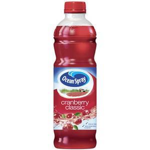 4 bouteilles Ocean Spray Cranberry 1L (avec bon de réduction de 1.50€)