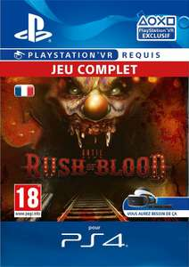 Until Dawn: Rush of Blood VR sur PS4 (Dématérialisé)