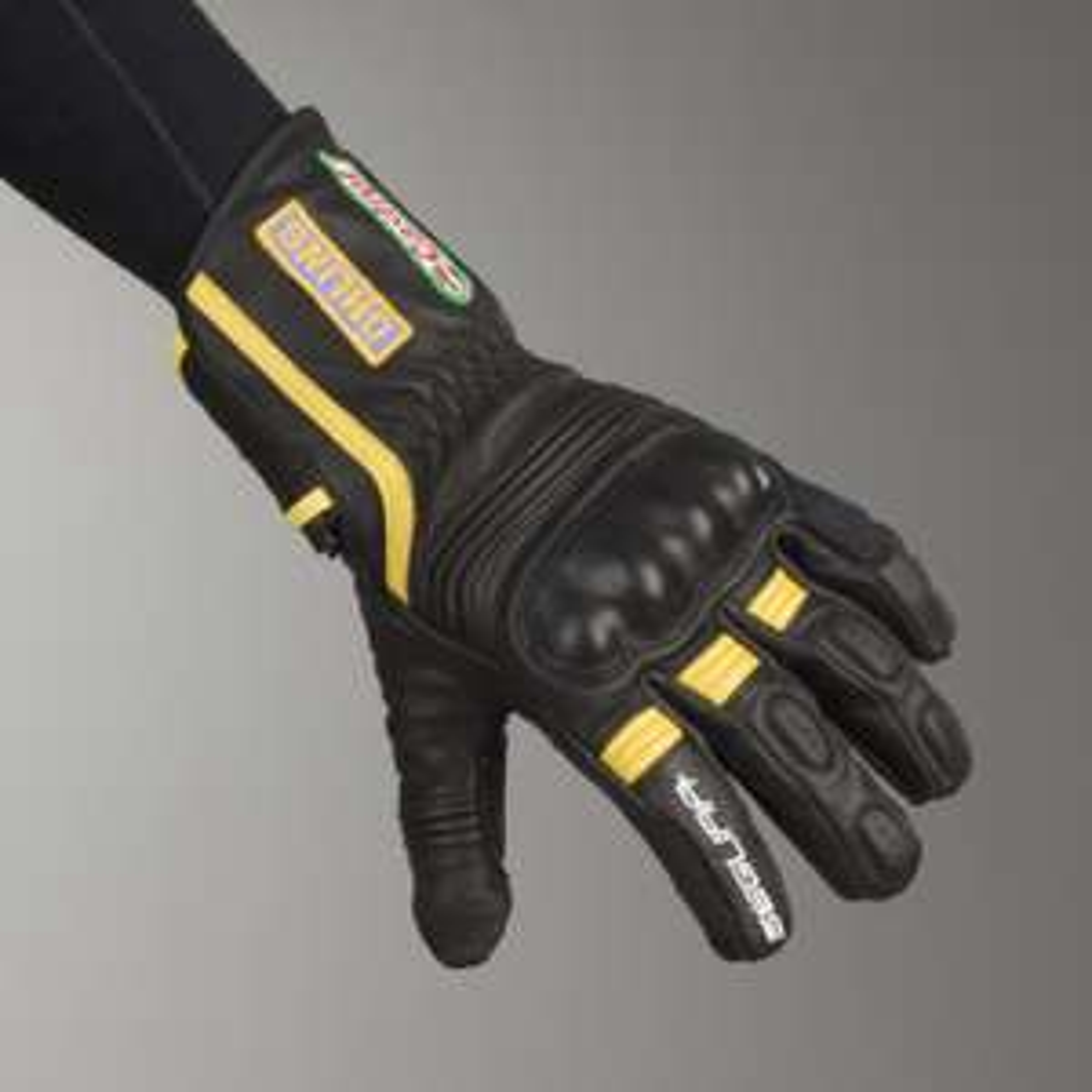 Gants de moto Segura Apache - noir / jaune (du M au XXL)
