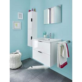 Meuble sous-vasque + Plan vasque + Miroir