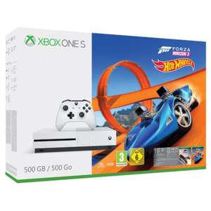 Pack console Microsoft Xbox One S 500Go + Forza Horizon 3 + Hot Weels