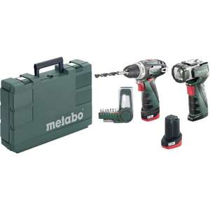 Coffret perceuse-visseuse sans fil Metabo PowerMaxx BS Basic (10.8 V) + 2 batteries (2.0 Ah)