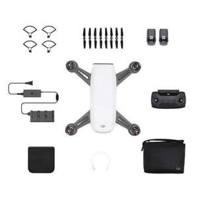 Drone quadricoptère RTF DJI Spark - avec contrôleur + 2 batteries, blanc
