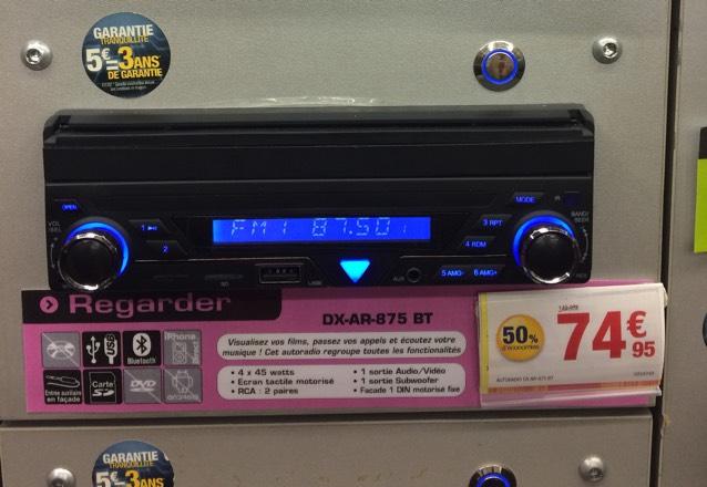 Autoradio 1DIN avec écran