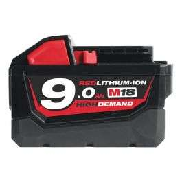 Batterie 18V Li-Ion Milwaukee M18 B9 - High Demand, 9,0Ah, 4932451245 (Fixami)