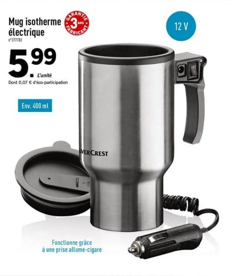 Mug isotherme électrique