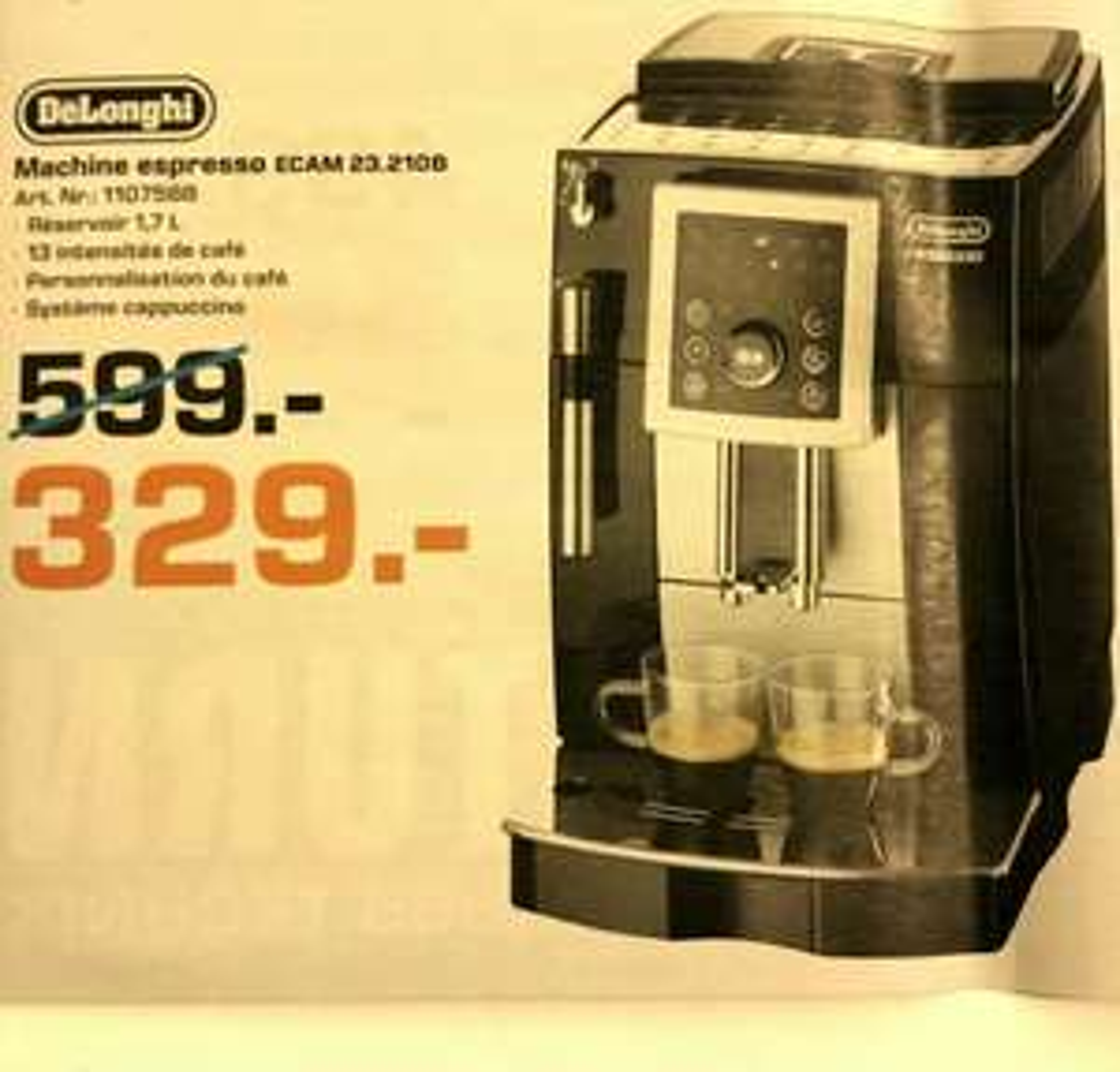 Machine espresso automatique Delonghi ECAM 23.210B (Frontaliers Luxembourg)
