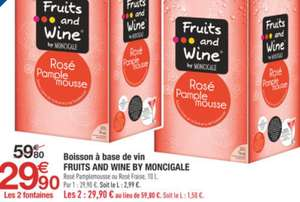 1 fontaine 10L fruits and wine by Montcigale achetée = 1 offerte