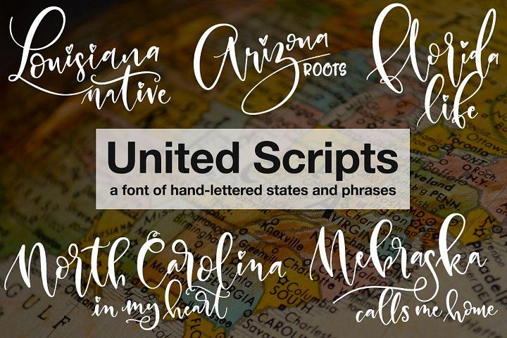 Police d'écriture United Scripts gratuite