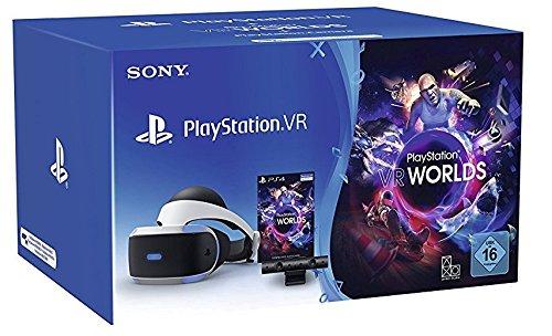 Casque de réalité virtuelle Sony Playstation VR (V2) + Caméra PlayStation V2 + PlayStation VR Worlds (dématérialisé)
