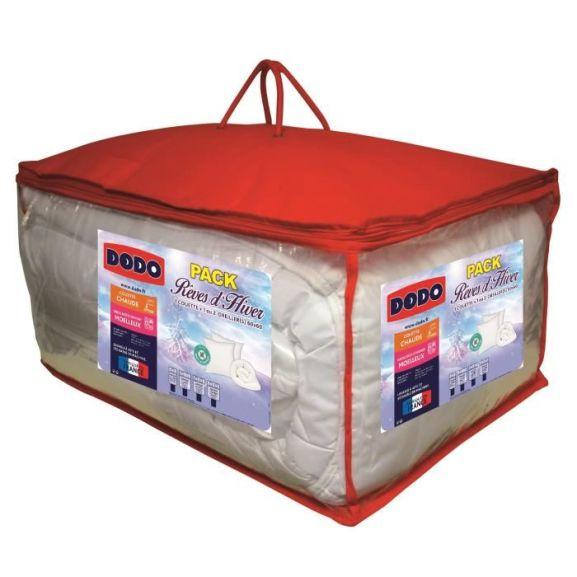 [CDAV] Pack DODO Anti-acariens Rêves d'hiver - 1 couette 220x240 cm + 2 oreillers 60x60 cm blanc