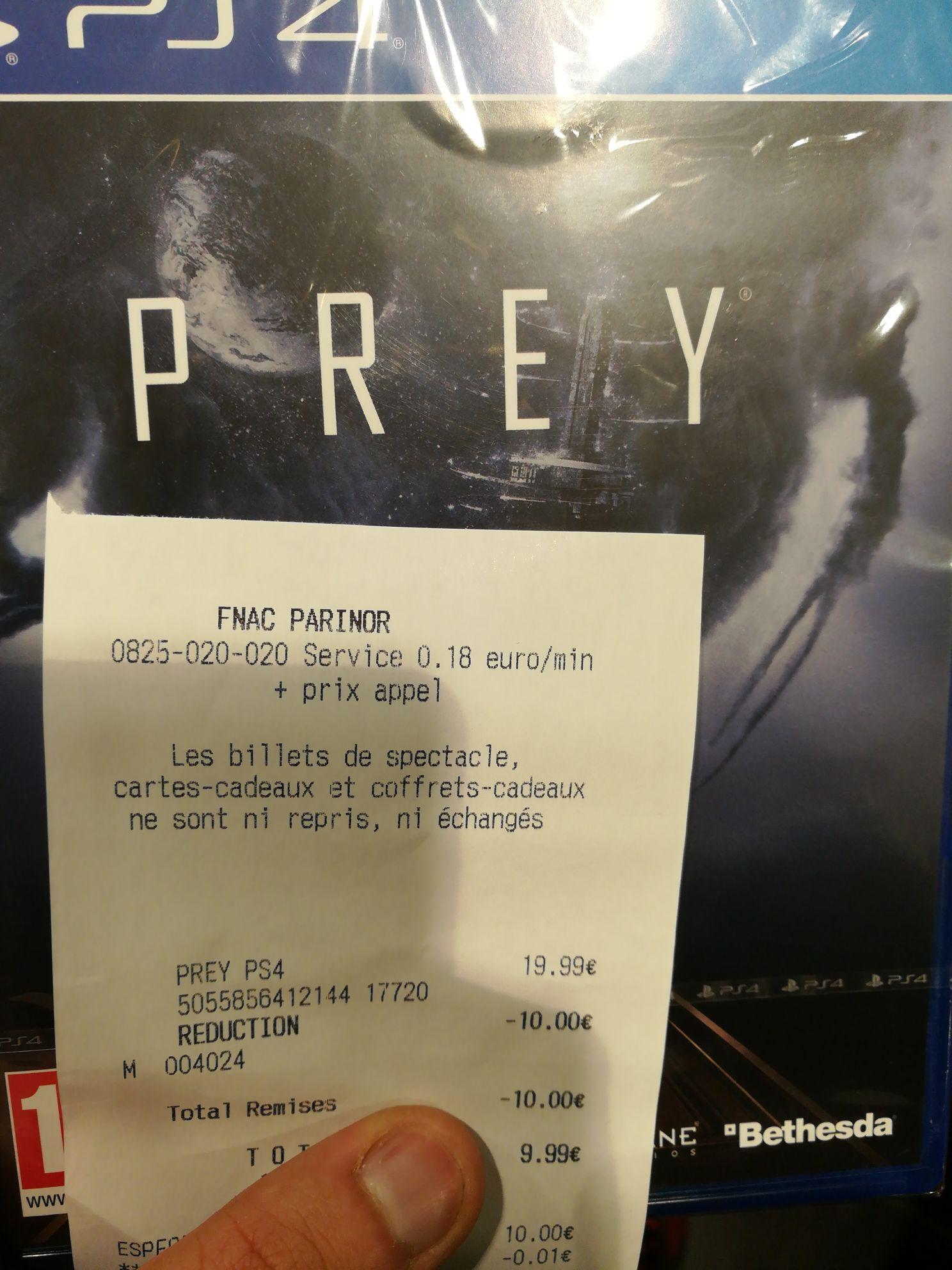 Prey sur PS4 - O'Parinor - Aulnay-Sous-Bois (93)