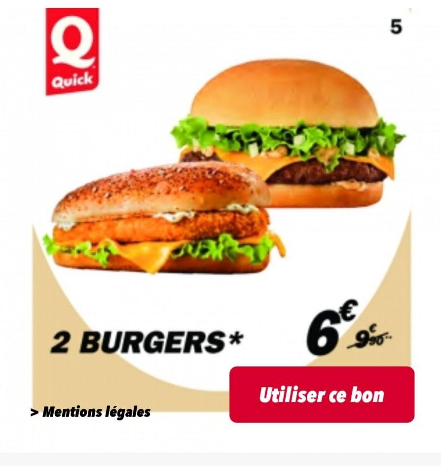 Sélections de promos via l'application et le site - Ex : 2 Burgers a 6€