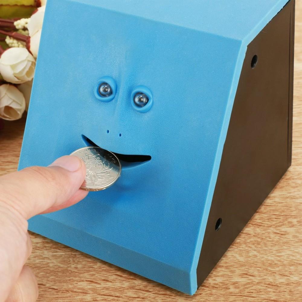 Tirelire mangeuse de pièces - Bleu