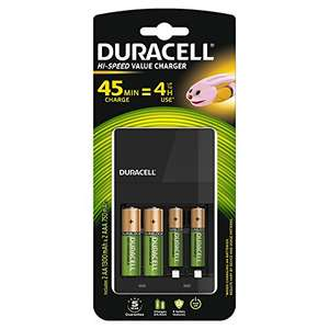 Chargeur Piles Rechargeables Duracell 45 minutes + 2 piles AA + 2 piles AAA