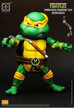 Sélection de Figurines Herocross Hybrid Metal en Promotion - Ex Tortue Ninja Michelangelo