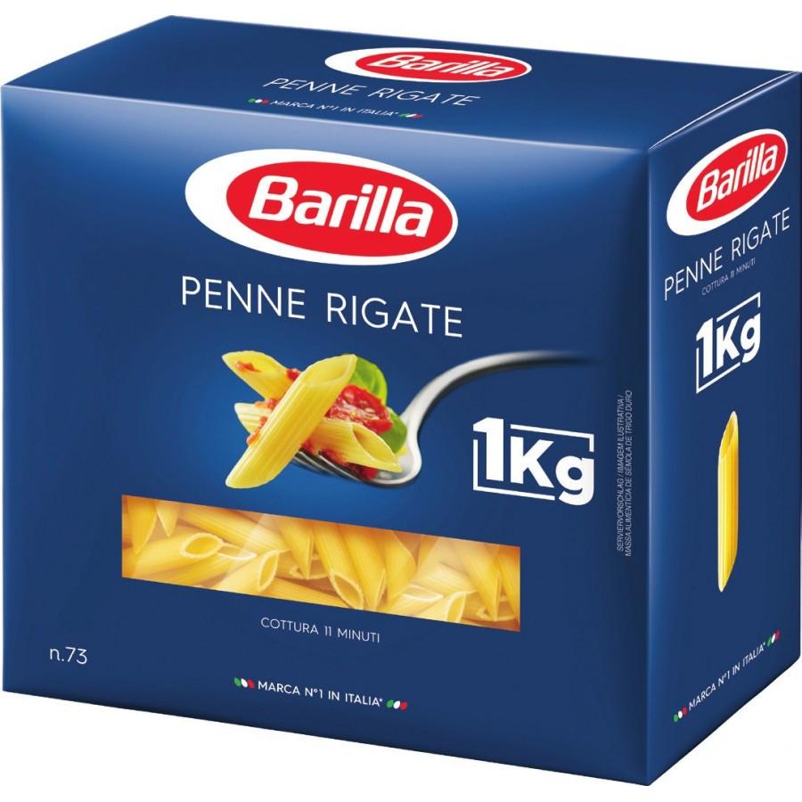 3 paquets de pâtes Barilla - Penne Rigate, Coquillettes, Capellini ou Spaghetti N°5 (1 kg)