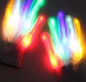 Gants lumineux LED