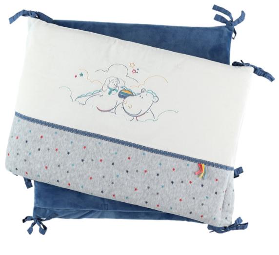 Tour de lit en veloudoux Guss et Victor - 40 x 56 x 10 cm