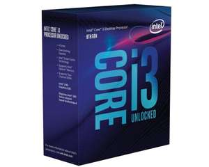 Processeur Intel Core i3-8100 Coffee Lake (91.7 avec le code PROMO15)