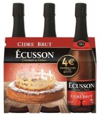 Sélection de produits en promotion - Ex : lot de 3 bouteilles de cidre Écusson - brut, doux ou rosé, 75 cl (via 3.66€ sur la carte de fidélité)