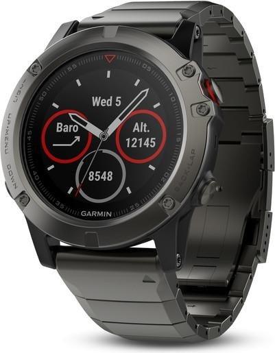 Montre connectée GPS multisport Garmin fēnix 5X Sapphire - Bracelet metal