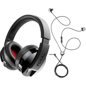 Casque audio sans-fil Focal Listen Wireless + Écouteurs intra-auriculaires Focal Sphear