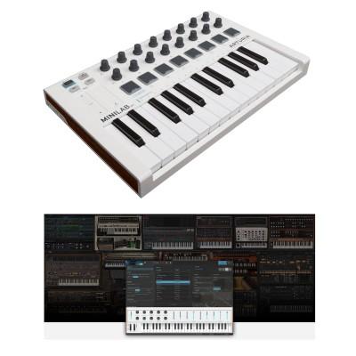 Clavier maître MIDI Arturia MiniLab MKII + logiciel Analog Lab 2
