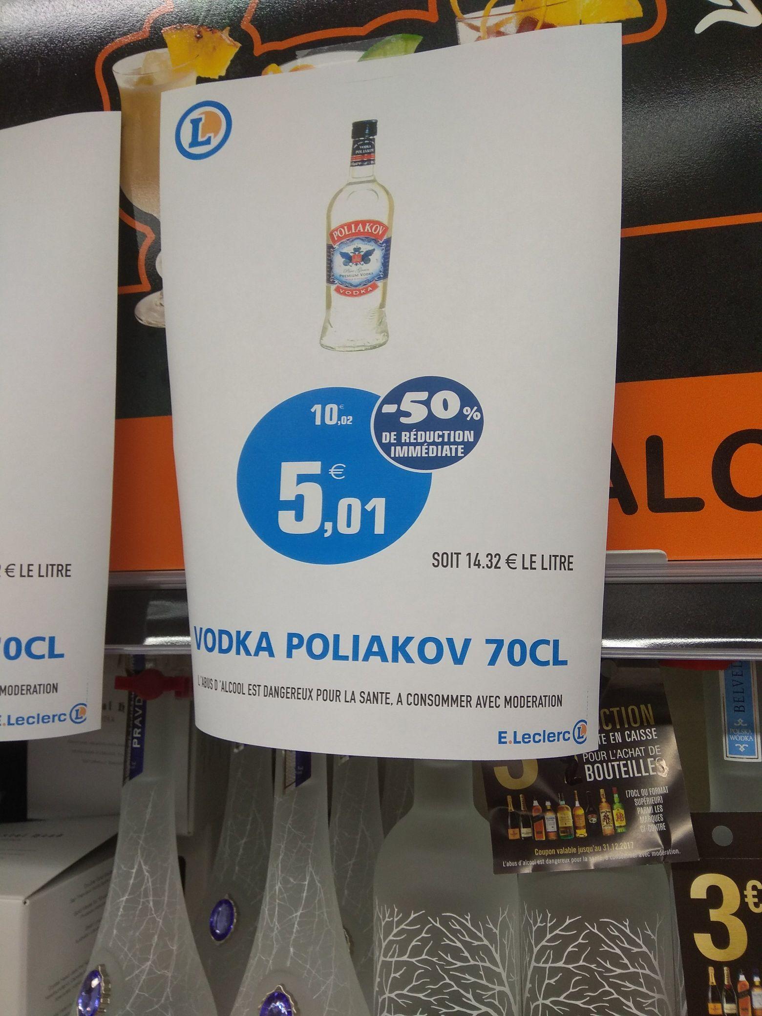 Bouteille de vodka Poliakov (70 cl) - Brest (29)