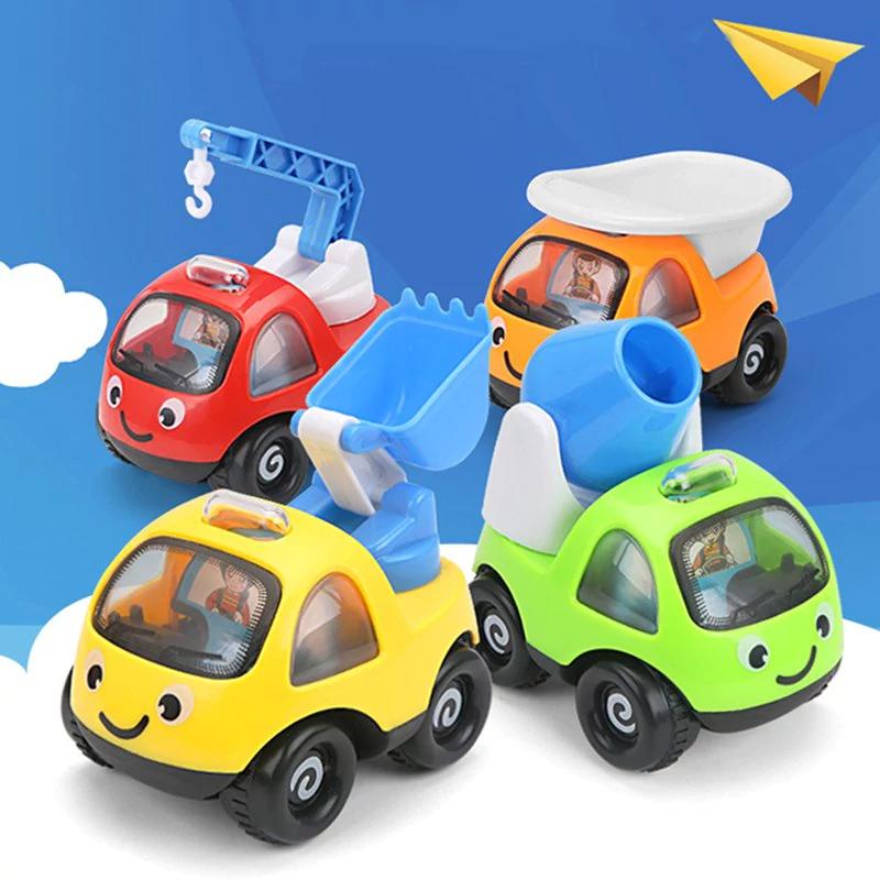 Lot de 4 jouets véhicules de chantier