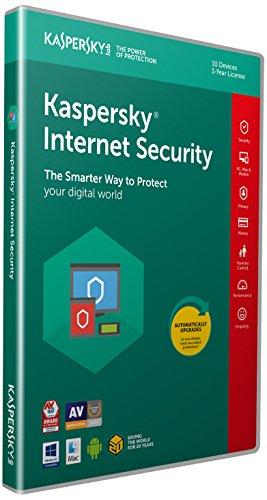 Logiciel anti-virus Kaspersky Internet Security 2018 - pour 10 postes, pendant 1 an