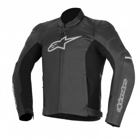 Blouson de moto AlpineStars SP-1 - en cuir, noir (du 48 au 62)