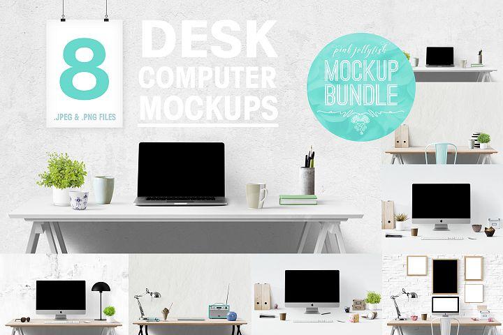 Image de mockup d'ordinateur de bureau gratuit