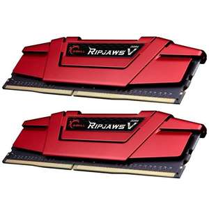 Kit de RAM G.SKill Ripjaws V DDR4-2133 CL15 - 8 Go (2x4), rouge