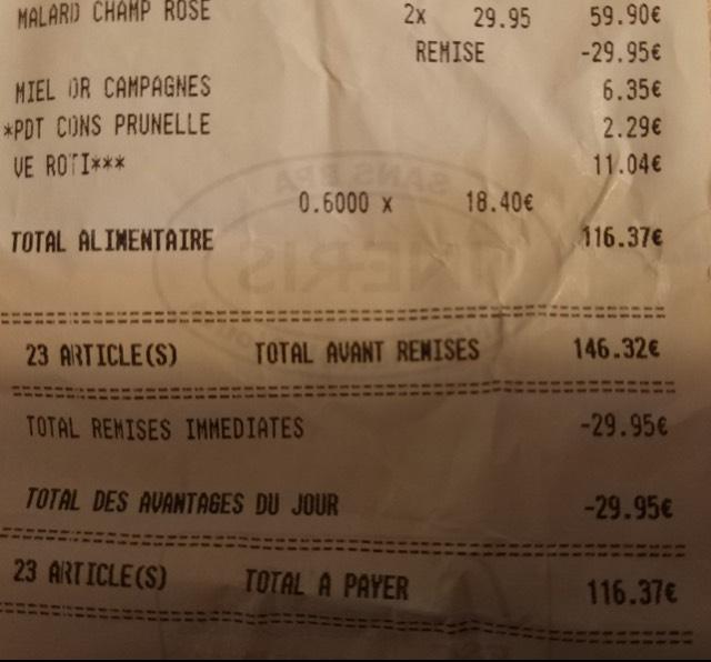 1 Bouteille de Champagne Malard rosé ou brute (via 5.99€ fidélité) - Plouay - 56
