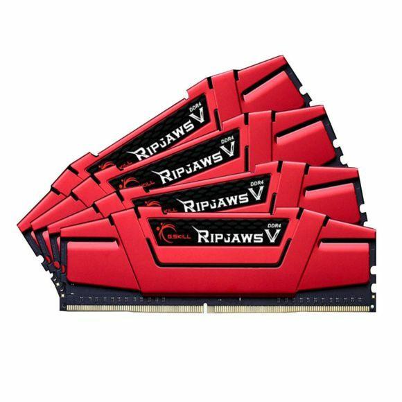 Kit Mémoire G.SKill Ripjaws V DDR4-2800 CL15 16Go (4x4Go) - Rouge