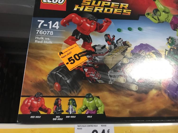 50% de remise immediate sur un grand nombre de lego et autres - Ex: Lego Marvel Super Heroes - La destruction du labo 76018 - Lac (33)