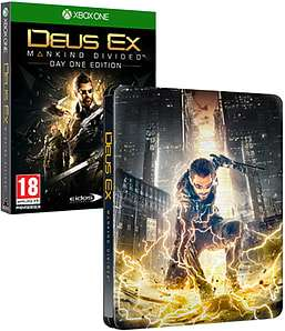 Deus Ex : Mankind Divided - Edition Steelbook sur Xbox One
