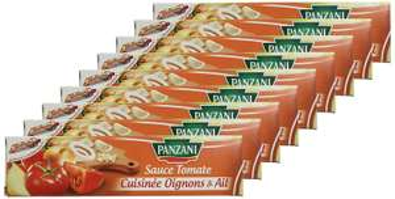 [Prime] Lot de 9 Tubes de Sauce Tomate Panzani cuisinée aux Oignons et à l'Ail - 9 x 180g