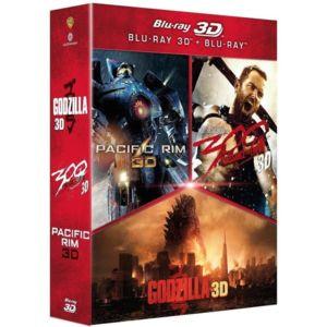 Coffret Blu-ray 3D: Godzilla 3D + Pacific Rim 3D + 300 : La naissance d'un Empire 3D