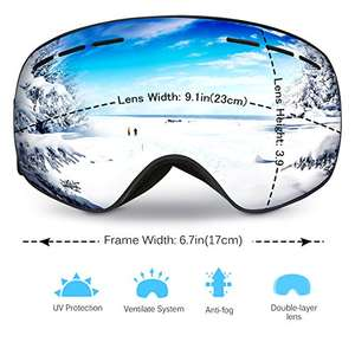 Masque de Ski et Snowboard Mpow LP-FR-HA751DO - Anti-UV400 (Vendeur Tiers)