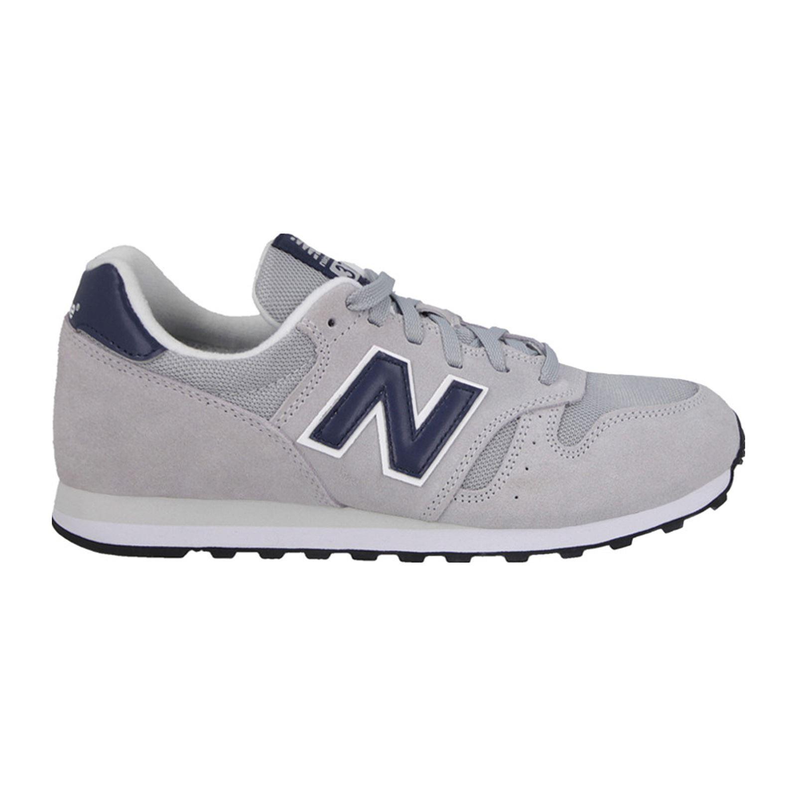 Chaussures New Balance en cuir bi-matière - Gris