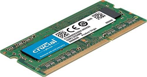 Barrette mémoire RAM Crucial 4 Go DDR3L -1600 MHz, SODIMM