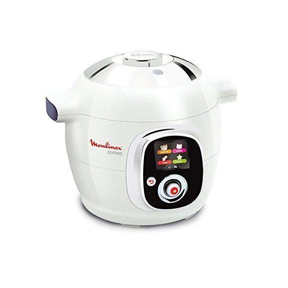 Multicuiseur Moulinex CE704110 Intelligent Cookeo avec 100 Recettes - Blanc Finition Chromé