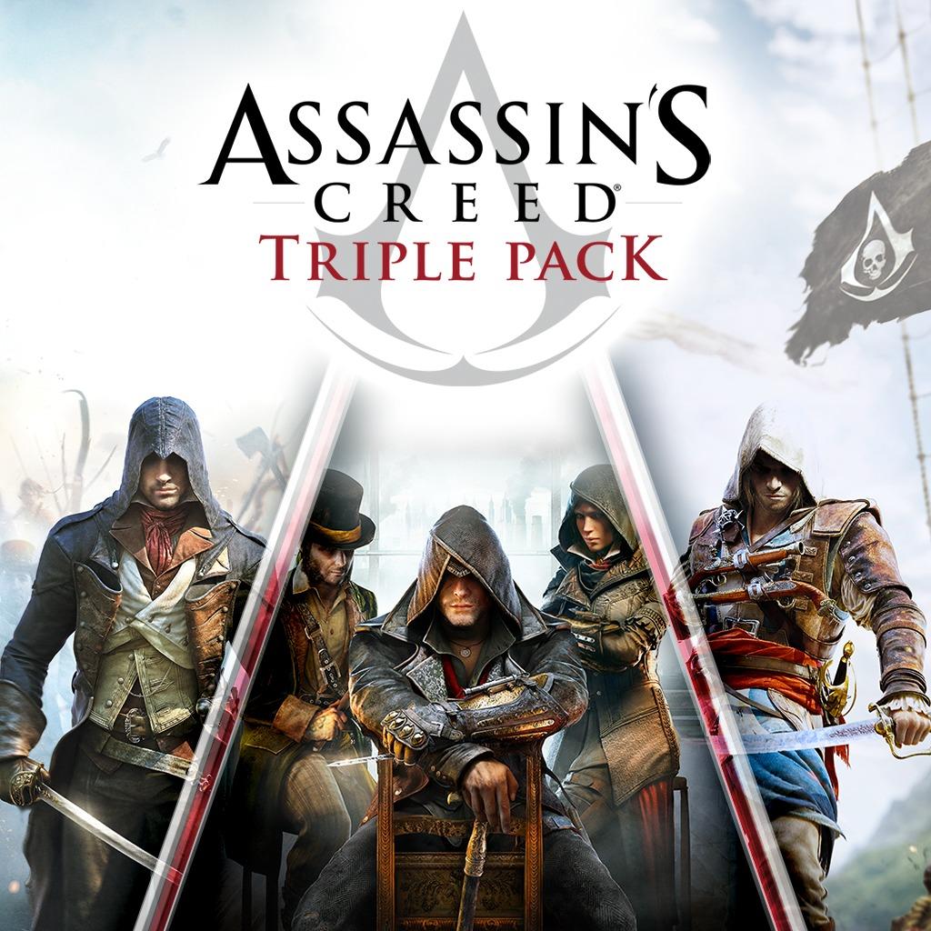 [Gold] Triple pack Assassin's Creed: Black Flag, Unity, Syndicate sur Xbox One (Dématérialisé)
