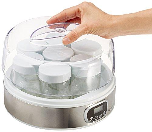 Yaourtière Amazon Basics avec minuterie et 7 pots