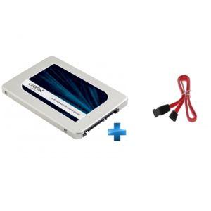 SSD Interne 2,5'' Crucial MX300 - 525 Go + Câble SATA-45