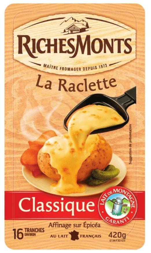 3 Barquettes de fromage à raclette Richemont - 3x420 g