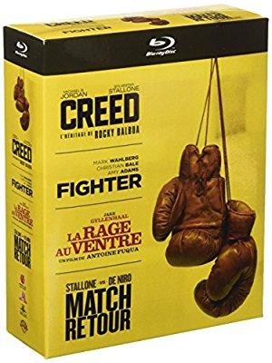 Coffret Blu-ray boxe: Creed + The Fighter + La Rage au Ventre + Match Retour